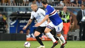 """Сампдория - Интер 0:0, отмениха втори гол на """"нерадзурите"""", гледайте тук"""