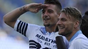 Лацио отнесе Дженоа за трети пореден успех (видео)