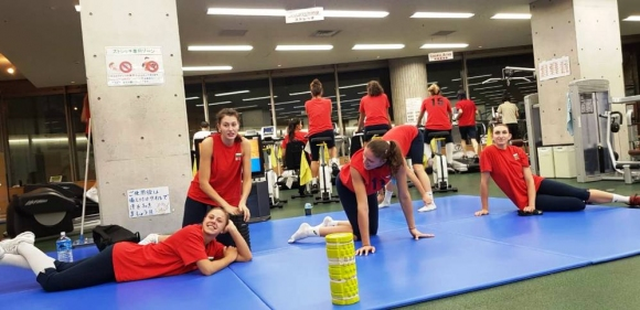 Волейболистките с първа тренировка в Сапоро