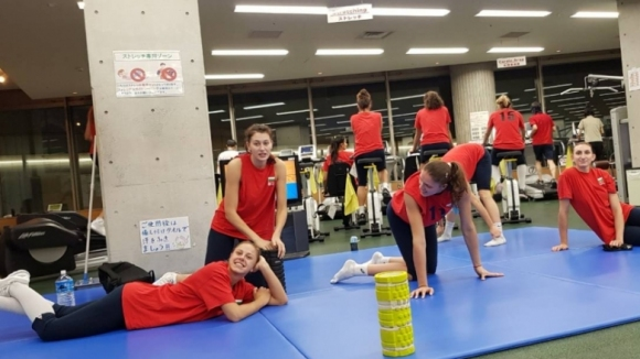 Волейболистките на България с първа тренировка в Сапоро