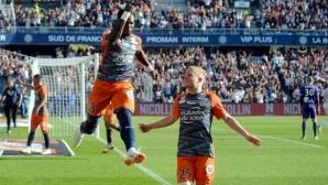 Монпелие изскочи втори с успех в южняшкото дерби, проблеми с публиката спираха на два пъти мача