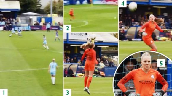 Футболистка на Манчестър Сити си отбеляза автогол от центъра