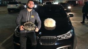 Хабиб се похвали, че е получил своя шампионски пояс от Дейна Уайт