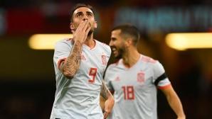 """Алкасер се развихри и за Испания, """"фуриите"""" отнесоха Уелс (видео)"""