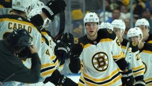 Хеттрик на Пастрънак донесе успех на Бостън
