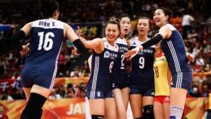 Олимпийските шампионки от Китай обърнаха световните първенци от САЩ в трилър (видео)