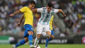 Аржентина - Бразилия 0:0, гледай на живо тук!