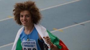 Силно бягане на Веселин Живков във втората фаза на 200 м