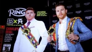 """""""Боксовата библия"""" връчи два пояса на Канело Алварес"""