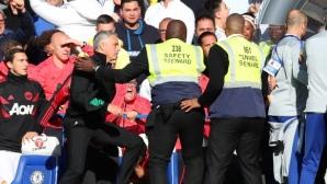 """Гол в 96-ата минута спаси Челси и лиши Моуриньо от първи триумф на """"Стамфорд Бридж"""" като мениджър на Юнайтед"""