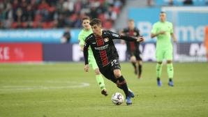 Гол в 94-ата минута спаси Байер (Л) от загуба срещу Хановер