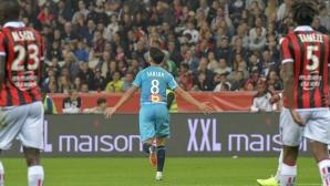 Късметът бе с Марсилия, а Ница продължава да затъва