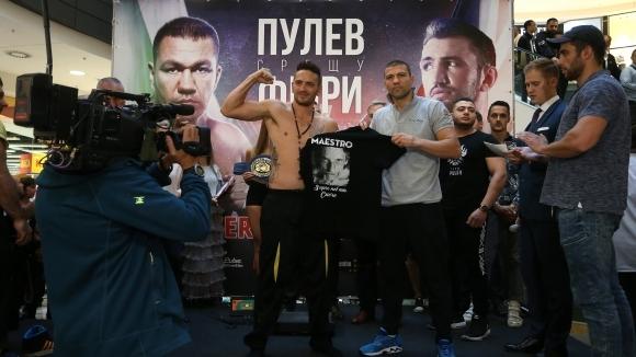 Тервел Пулев е по-тежък с половин кг от Бруцезе (видео + снимки)