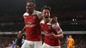 Арсенал - Лестър 2:1, гледайте тук!