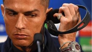Кристиано Роналдо събра погледите с бели диаманти за над $2 милиона (видео + снимки)
