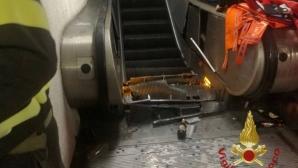 Руските фенове счупили половината ескалатор в Рим