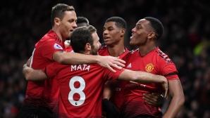 """Моуриньо остави Лукаку на пейката и Юнайтед стигна до трета победа на """"Олд Трафорд"""" (видео)"""
