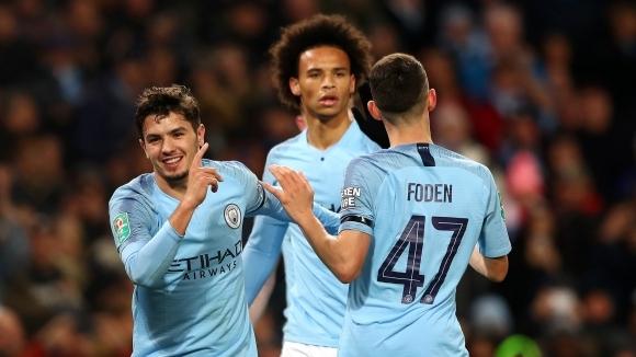 Дебютни попадения класираха Ман Сити на 1/4-финалите на Купата на Лигата