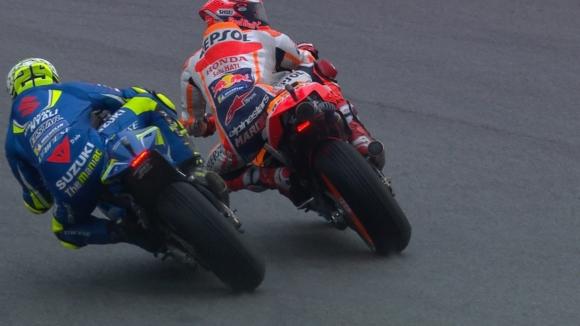 Наказаха Маркес заради блокирането на Яноне, Зарко стартира първи в MotoGP