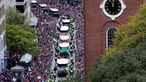 Трофеят на МЛБ пострада след бирена канонада, шестима арестувани на парадa в Бостън (видео)