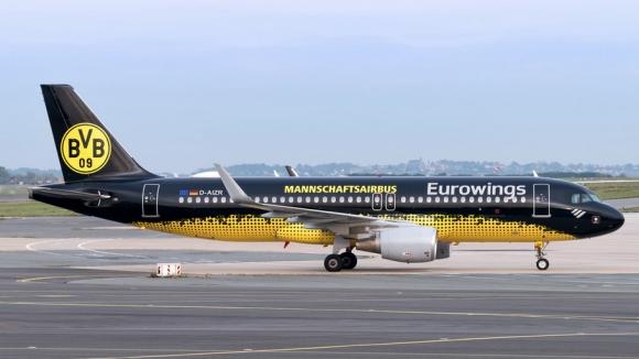 Голям късмет! Самолетът на Борусия (Д) едва не се разби в Мадрид