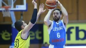 Левски Лукойл продължи победната си серия в НБЛ