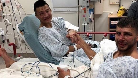 Корейското зомби и Родригес си стиснаха ръцете в болницата
