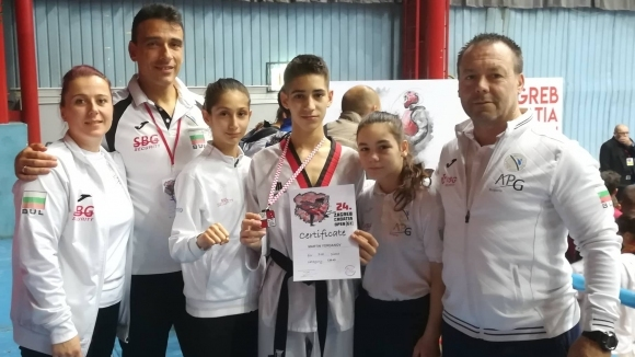 Два сребърни медала за България от силен турнир по таекуондо в Загреб
