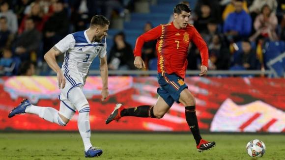 Дебютант зарадва Испания срещу Босна (видео)