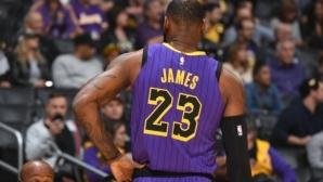 ЛеБрон Джеймс с нов рекорд в НБА, вече е пети във вечната ранглиста на реализаторите