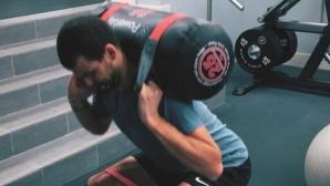 Григор Димитров тренира във фитнеса (видео)