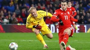 Дания си осигури промоция за сметка на Уелс (видео)