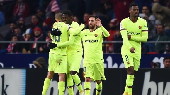 Дембеле спаси Барса срещу Атлетико в 90-ата минута (видео)