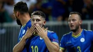 Косово отвя Азербайджан и скача в люта схватка за класиране на Евро 2020 (видео)