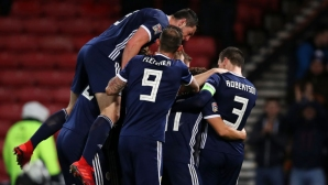 Обрат с хеттрик зарадва Шотландия и свърши работа и на България (видео)