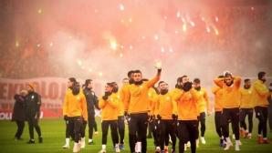 Невероятно! Вижте какво направиха феновете на Галатасарай (видео)