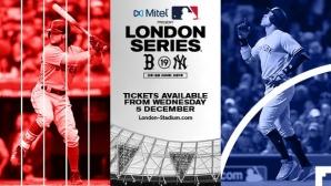 ВИП билети по 385 паунда за Бостън - НЙ Янкис в Лондон