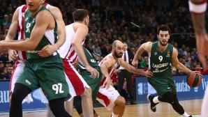 Везенков игра само три минути при загуба на Олимпиакос в Евролигата