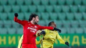 Треньорът на Спартак (Москва) похвали Ивелин Попов