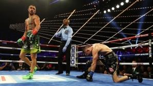Ломаченко прати Педраса два пъти в нокдаун и обедини поясите на WBA и WBO
