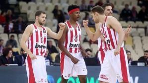 Олимпиакос с победа в Гърция, Везенков се отличи с 8 точки