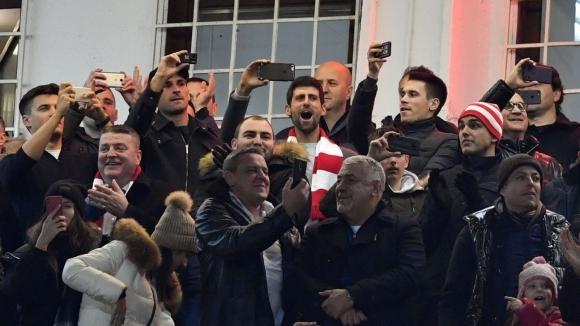 Джокович сбъдна мечтата си да гледа Звезда на живо в ШЛ (видео)
