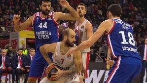 Везенков игра 4 минути при успех на Олимпиакос