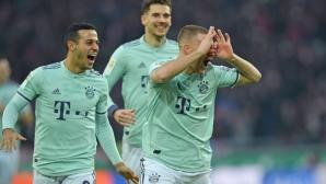Байерн застигна втория и вече чака грешка на Дортмунд (видео)
