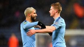 Лестър - Манчестър Сити 0:1, гледайте мача тук!
