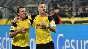 В Дортмунд си върнаха коледното настроение с победа над другата Борусия (видео)