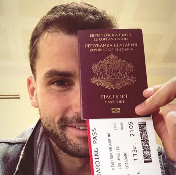 Гришо показа българския си паспорт и замина за Австралия
