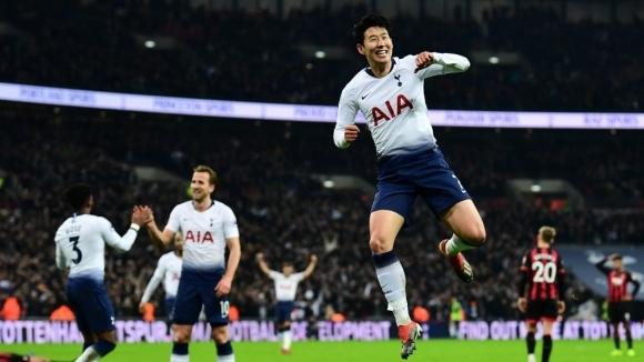 Тотнъм вкара 11 гола за четири дни и изскочи на второ място (видео)