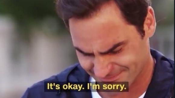 Федерер се просълзи при напомняне за откривателя му (видео)