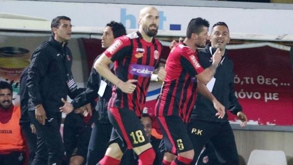Димитър Макриев с първи гол след завръщането си в кипърския футбол